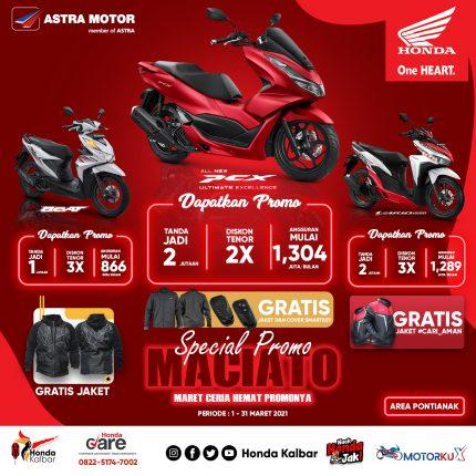 Promo MACIATO, Honda Kalbar Beri Promo Khsus Angsuran