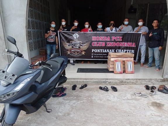 Komunitas Honda PCX Club Pontianak Bersama Membangun Negeri