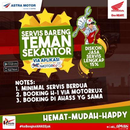 Service Bareng Temen Sekantor, Program Seru Astra Motor Kalbar